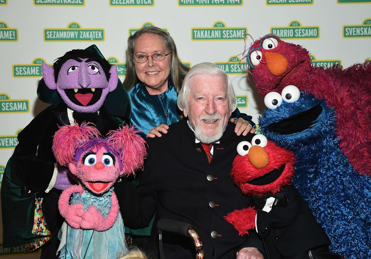 Caroll Spinney and The Muppets attend The 2017 Sesame Workshop Dinner at Cipriani 42nd Street on May 31, 2017 in New York City.