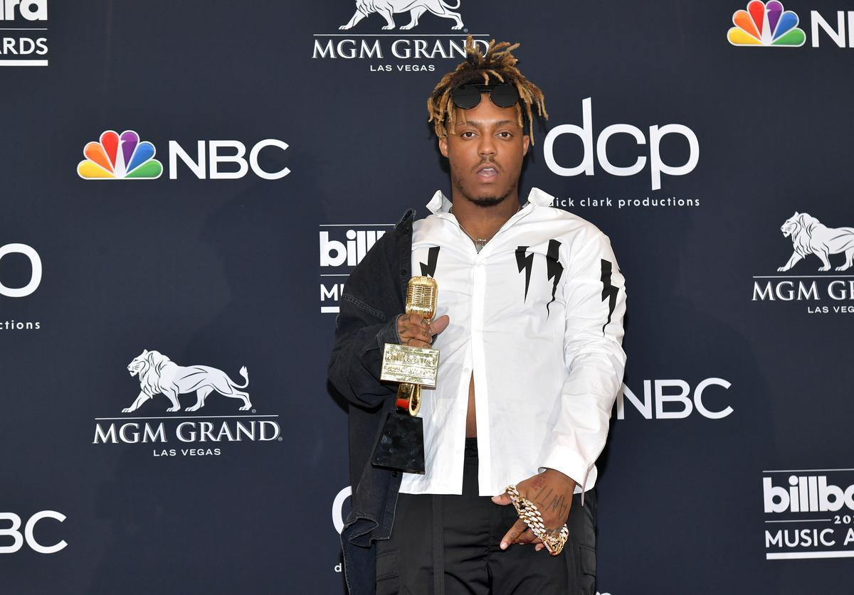 Juice Wrld poses with the award for Best New Artist in the press room during the 2019 Billboard Music Awards at MGM Grand Garden Arena on May 01, 2019 in Las Vegas, Nevada.