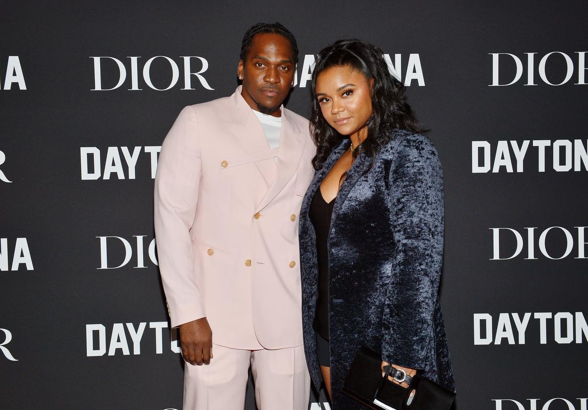 Pusha T (L) and Virginia Williams attend Dior Celebrates Pusha T Daytona Rap Album Of The Year Hosted By Steven Victor at Dior Men's Boutique on February 08, 2019 in Beverly Hills, California.