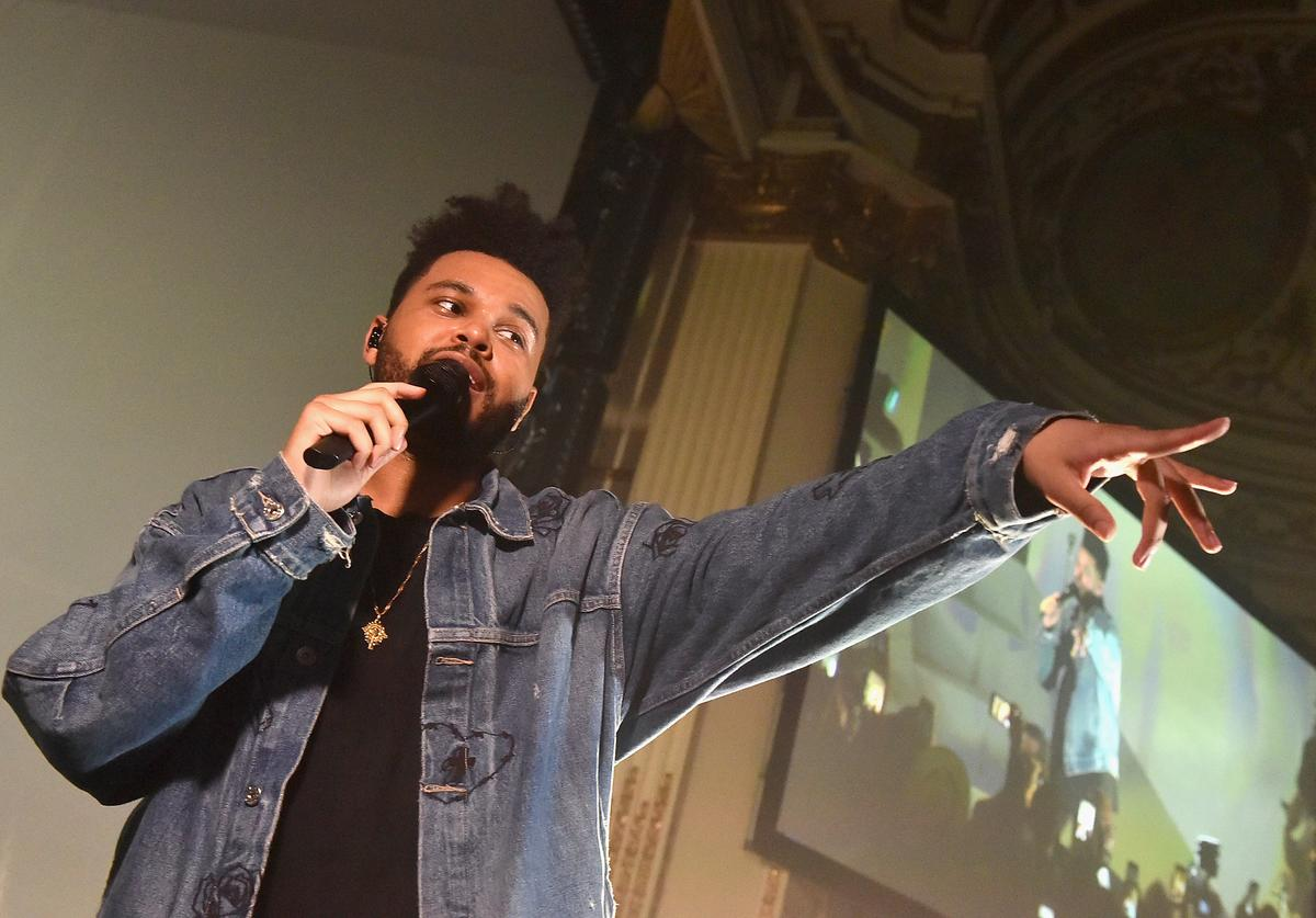 "The Weeknd performs onstage during Harper's BAZAAR Celebration of ""ICONS By Carine Roitfeld"" at The Plaza Hotel presented by Infor, Laura Mercier, Stella Artois, FUJIFILM and SWAROVSKI on September 8, 2017 in New York City."