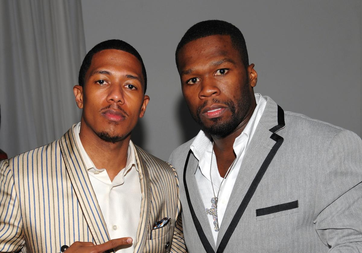 Nick Cannon and rapper 50 Cent attend the launch of VEVO, the world's premiere destination for premium music video and entertainment at Skylight Studio on December 8, 2009 in New York City