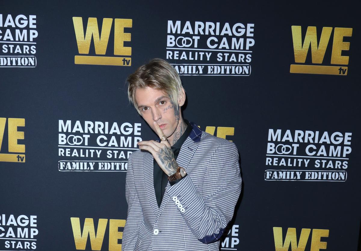 Aaron Carter at 'Marriage Boot Camp' premiere
