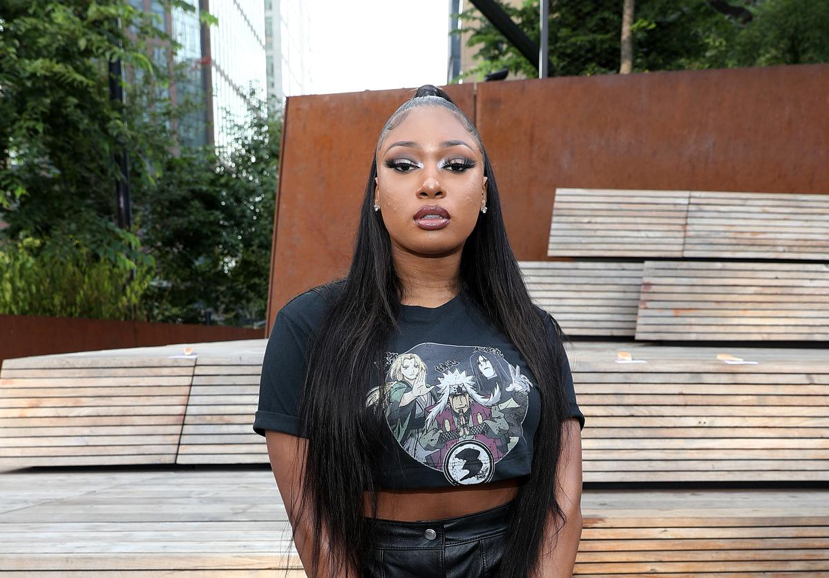 Megan Thee Stallion attends the front row for Coach 1941 during New York Fashion Week on September 10, 2019 in New York City