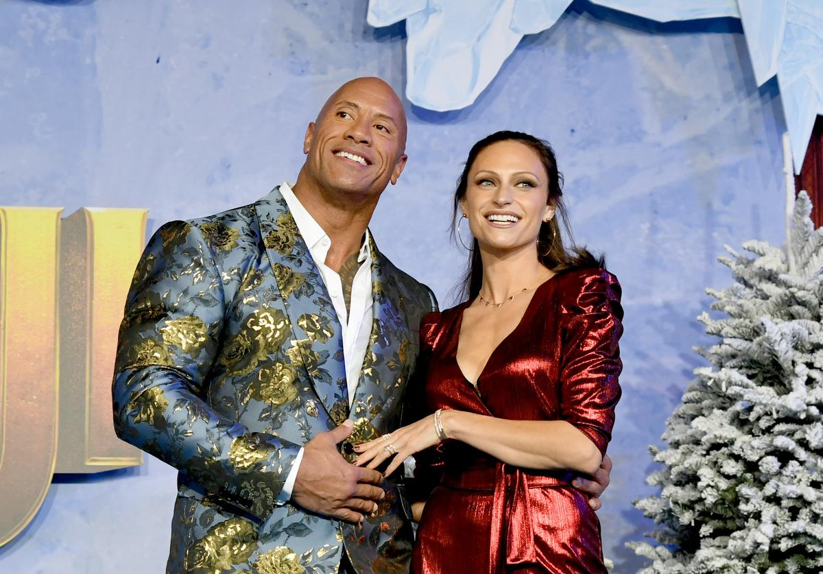 "Dwayne Johnson & Lauren Hashian at ""Jumani: The Next Level"" premiere"