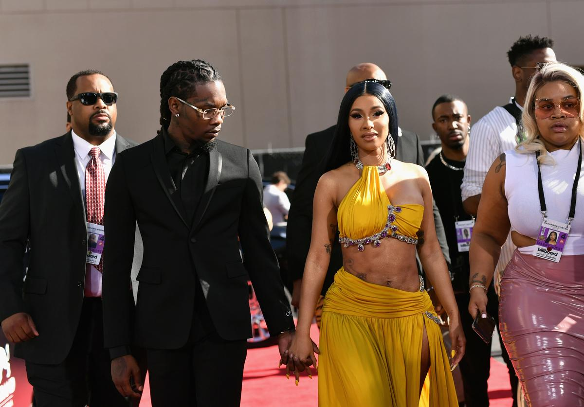 Offset of Migos and Cardi B attend the 2019 Billboard Music Awards at MGM Grand Garden Arena on May 1, 2019 in Las Vegas, Nevada