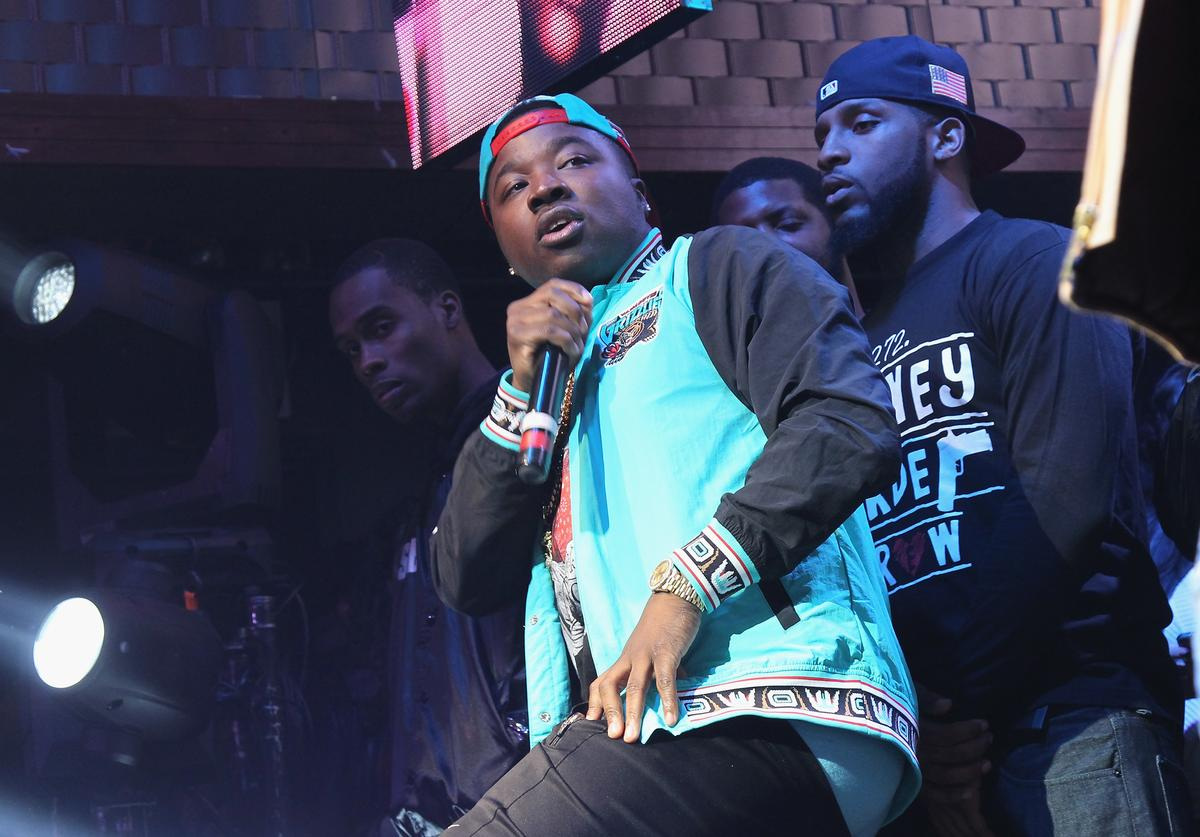 Troy Ave performs onstage as Coors Light Soundtrack reFRESH brings DJ Mustard, Fabolous and special guests To NYC at Stage 48 on November 17, 2015 in New York City