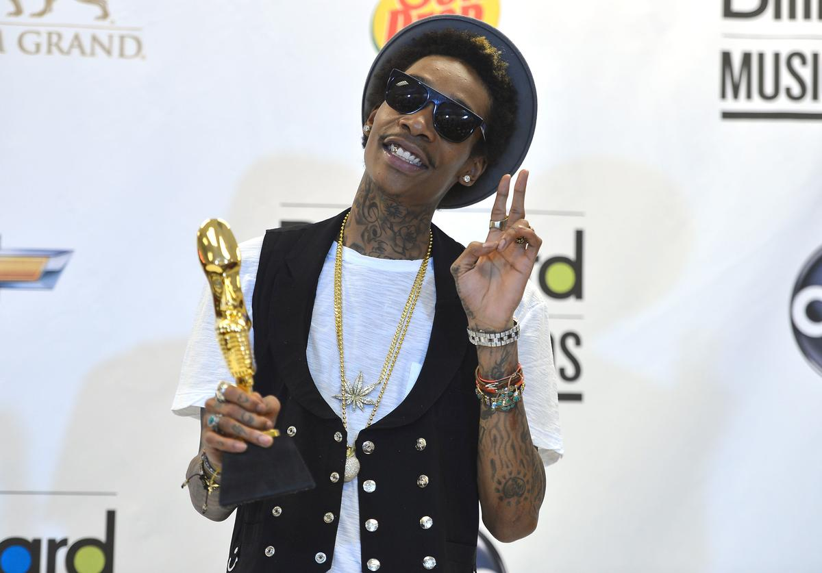 Rapper Wiz Khalifa winner of the award for Top New Artist poses in the press room at the 2012 Billboard Music Awards held at the MGM Grand Garden Arena on May 20, 2012 in Las Vegas, Nevada.