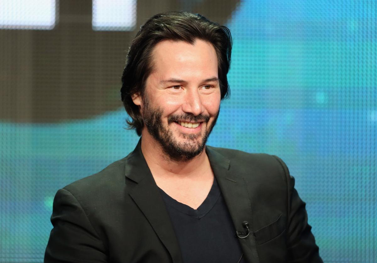 "Host/producer Keanu Reeves speaks onstage during the ""Side by Side"" panel at the PBS portion of the 2013 Summer Television Critics Association tour at the Beverly Hilton Hotel on August 6, 2013 in Beverly Hills, California."