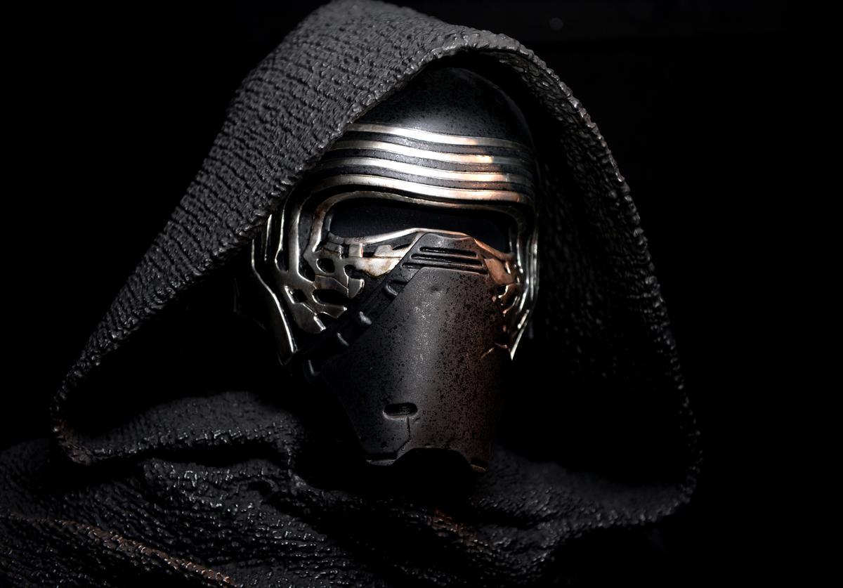 ) Star Wars: Episode VII character Kylo Ren at the Star Wars Gallery at Harrods on June 18, 2016 in London, England.