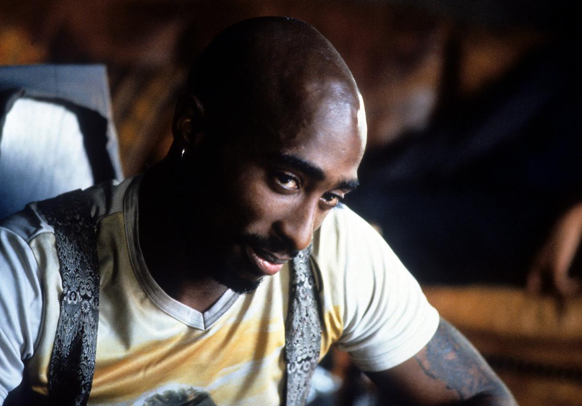 Tupac Shakur in a scene from the film 'Gridlock'd', 1997