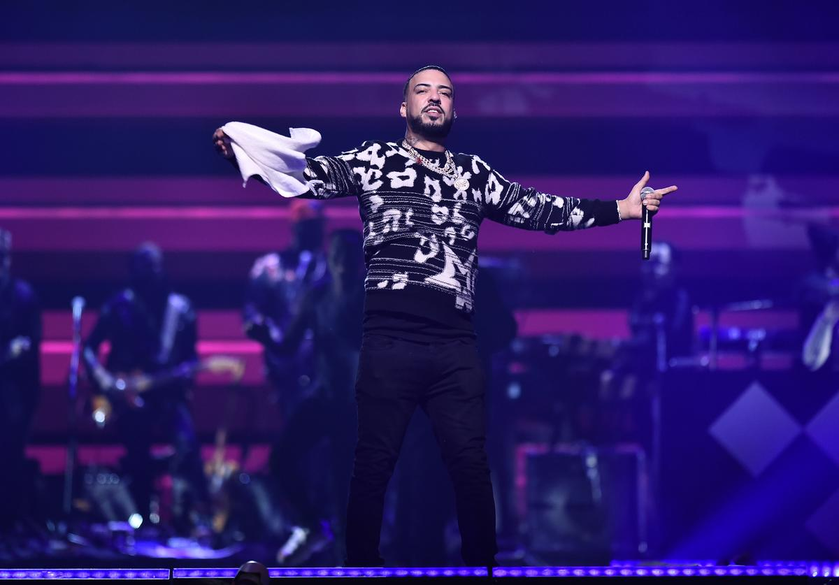 French Montana performs during the TIDAL's 5th Annual TIDAL X Benefit Concert TIDAL X Rock The Vote At Barclays Center - Show at Barclays Center of Brooklyn on October 21, 2019 in New York City.