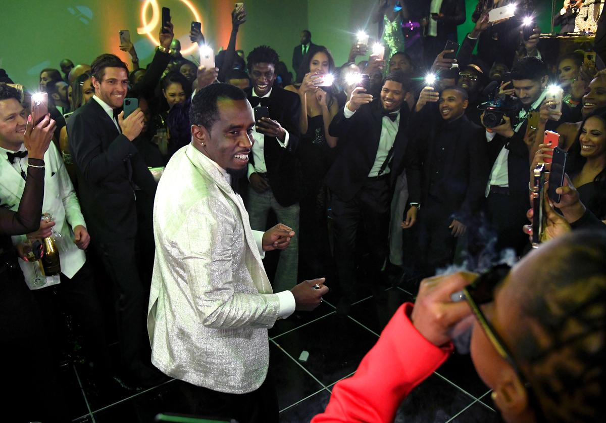 Diddy at 50th birthday party.