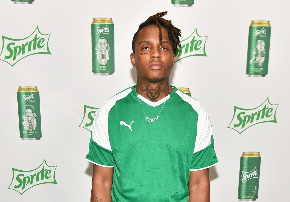 Ski Mask the Slump God attends the Celebrity Dodgeball Game at 2018 BET Experience Fan Fest at Los Angeles Convention Center on June 22, 2018 in Los Angeles, California
