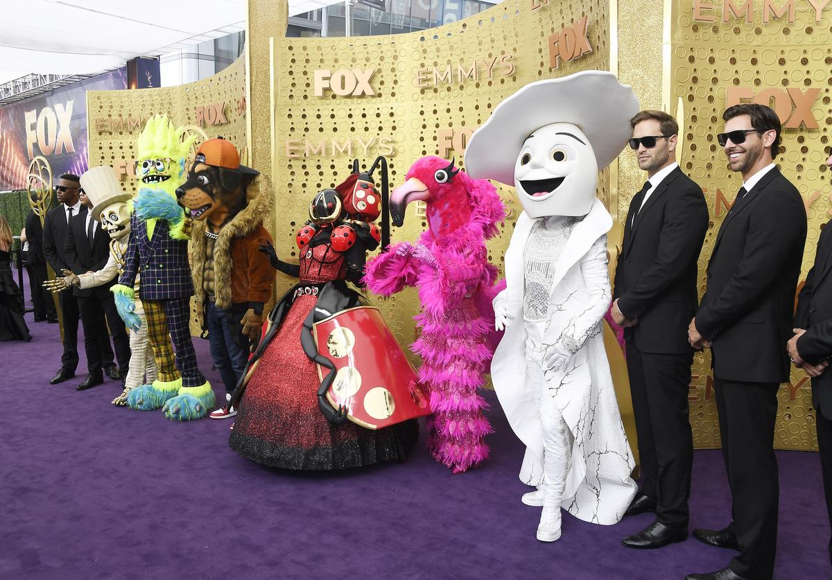 """The Masked Singer"" characters at the Emmy Awards"