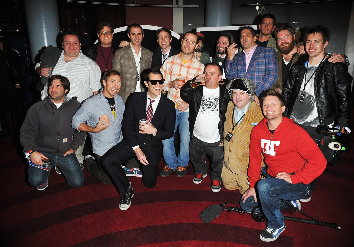"The cast of Jackass at the premiere of ""Jackass 3D"""