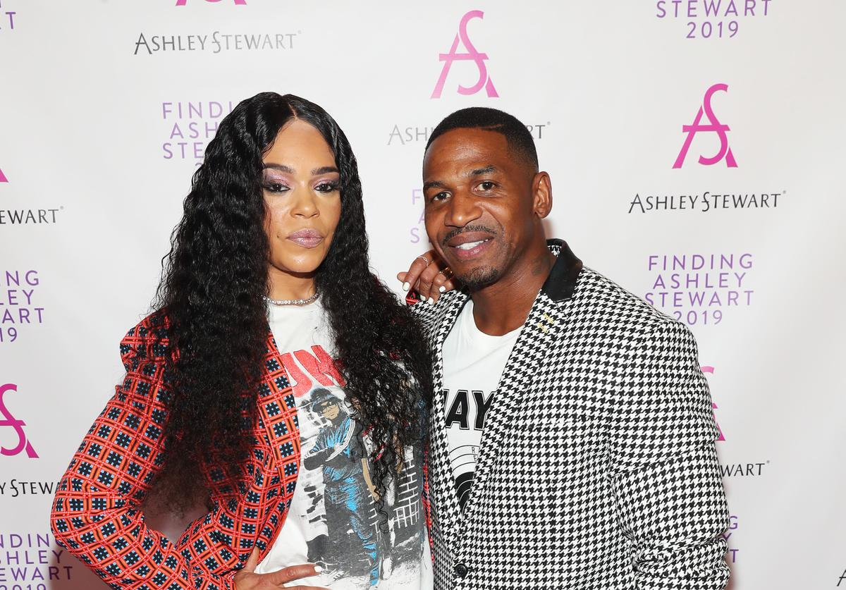 Faith Evans & Stevie J attend 2019 Finding Ashley Stewart Finale Event