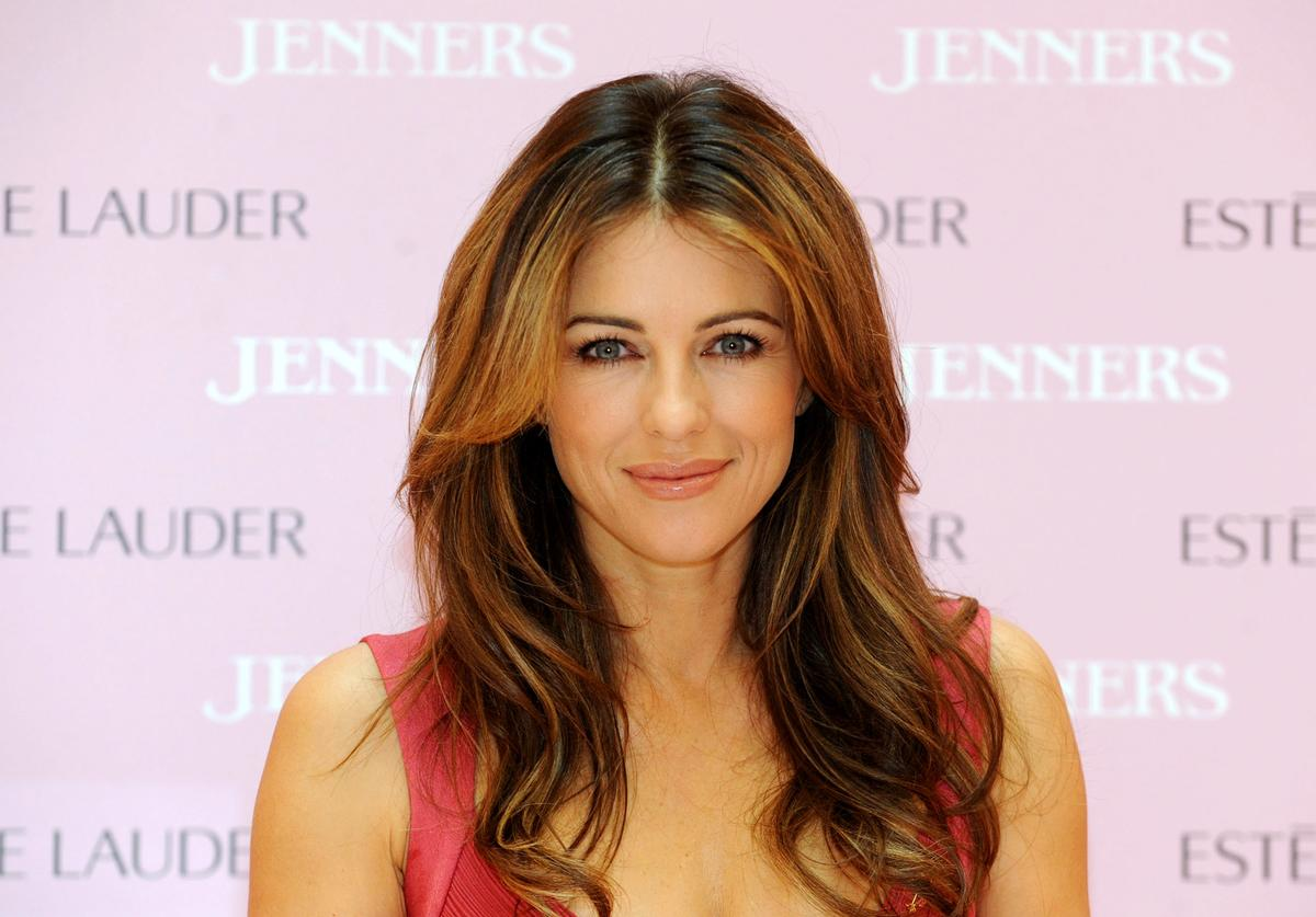 Liz Hurley makes a personal appearance to raise awareness for Breast Cancer Awareness Month at Jenners Edinburgh on October 4, 2011