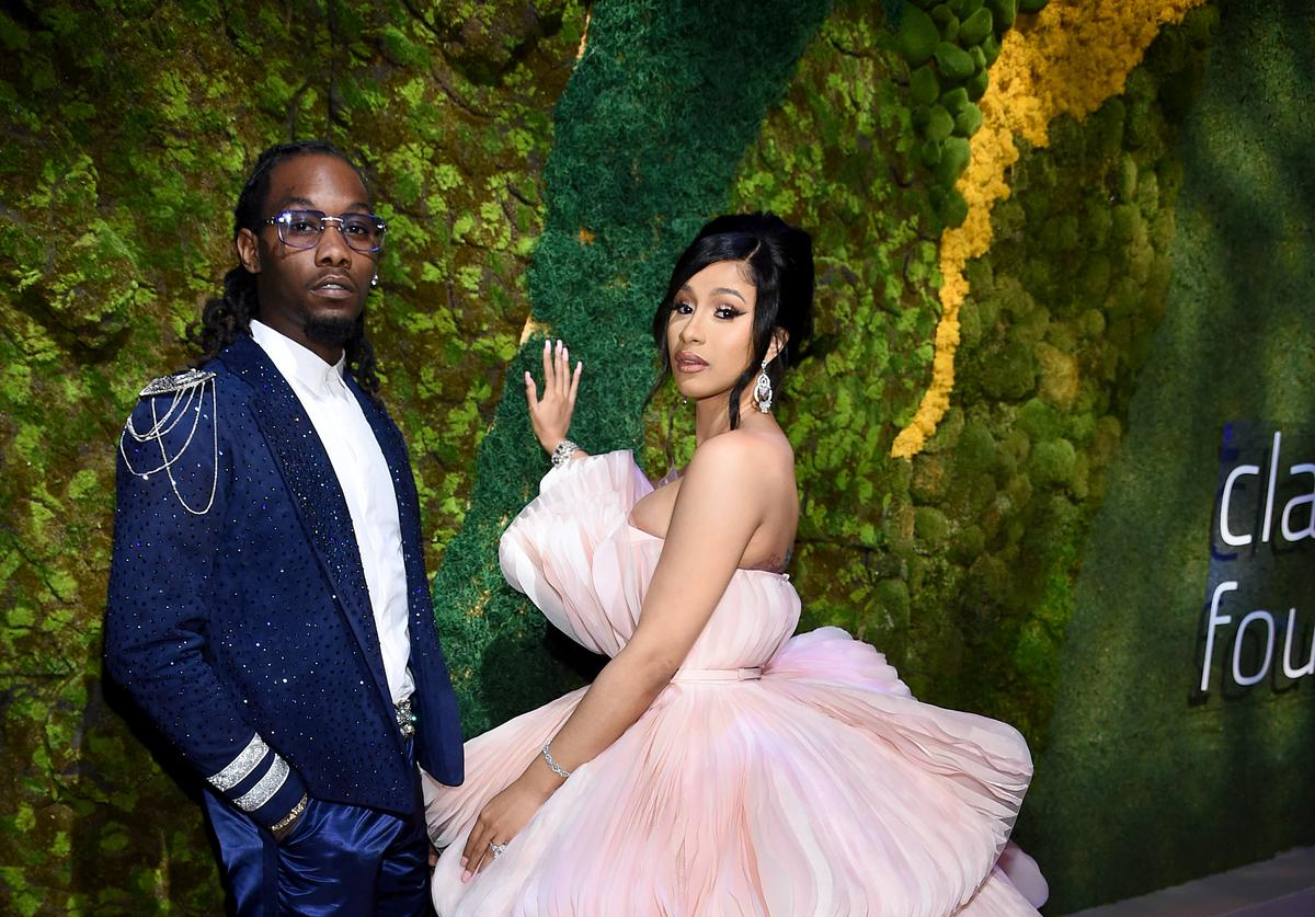 Offset & Cardi B at the Diamond Ball