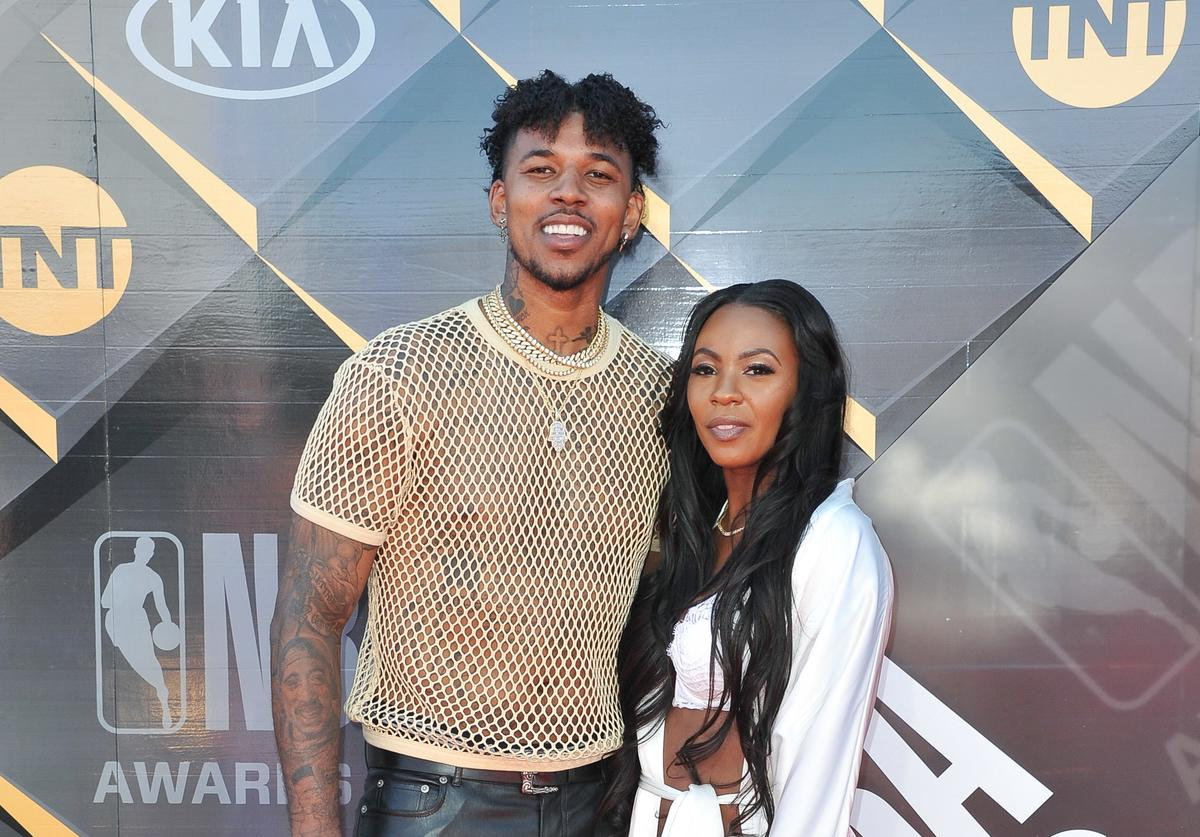 Nick Young and Keonna Green attend the 2018 NBA Awards Show at Barker Hangar on June 25, 2018 in Santa Monica, California