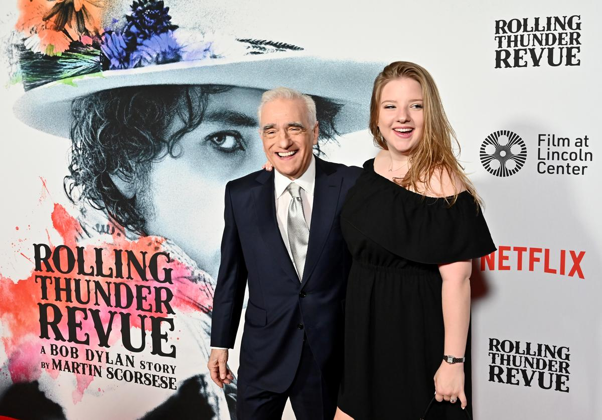 "Martin Scorsese & daughter Francesca at premiere of ""Netflix's ROLLING THUNDER REVUE: A BOB DYLAN STORY BY MARTIN SCORSESE"""