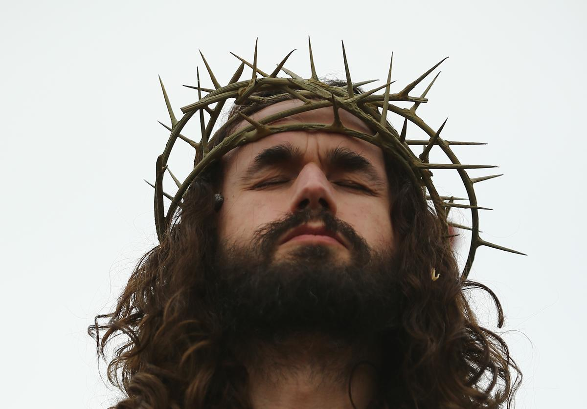 "Jesus Christ character in performance of ""The Passion of Jesus"""