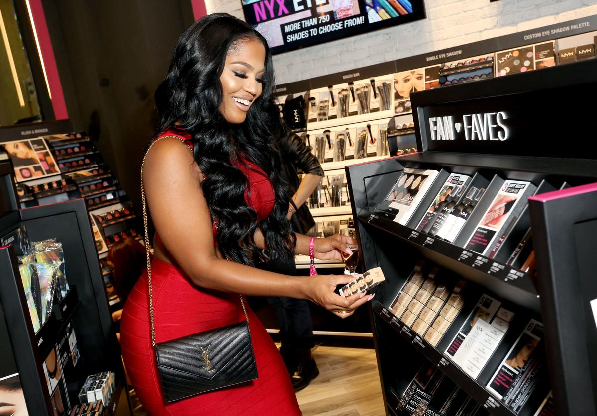 MakeupShayla attends the World's 1st NYX store Grand Opening VIP preview party at Westfield Santa Anita on October 1, 2015 in Arcadia, California.