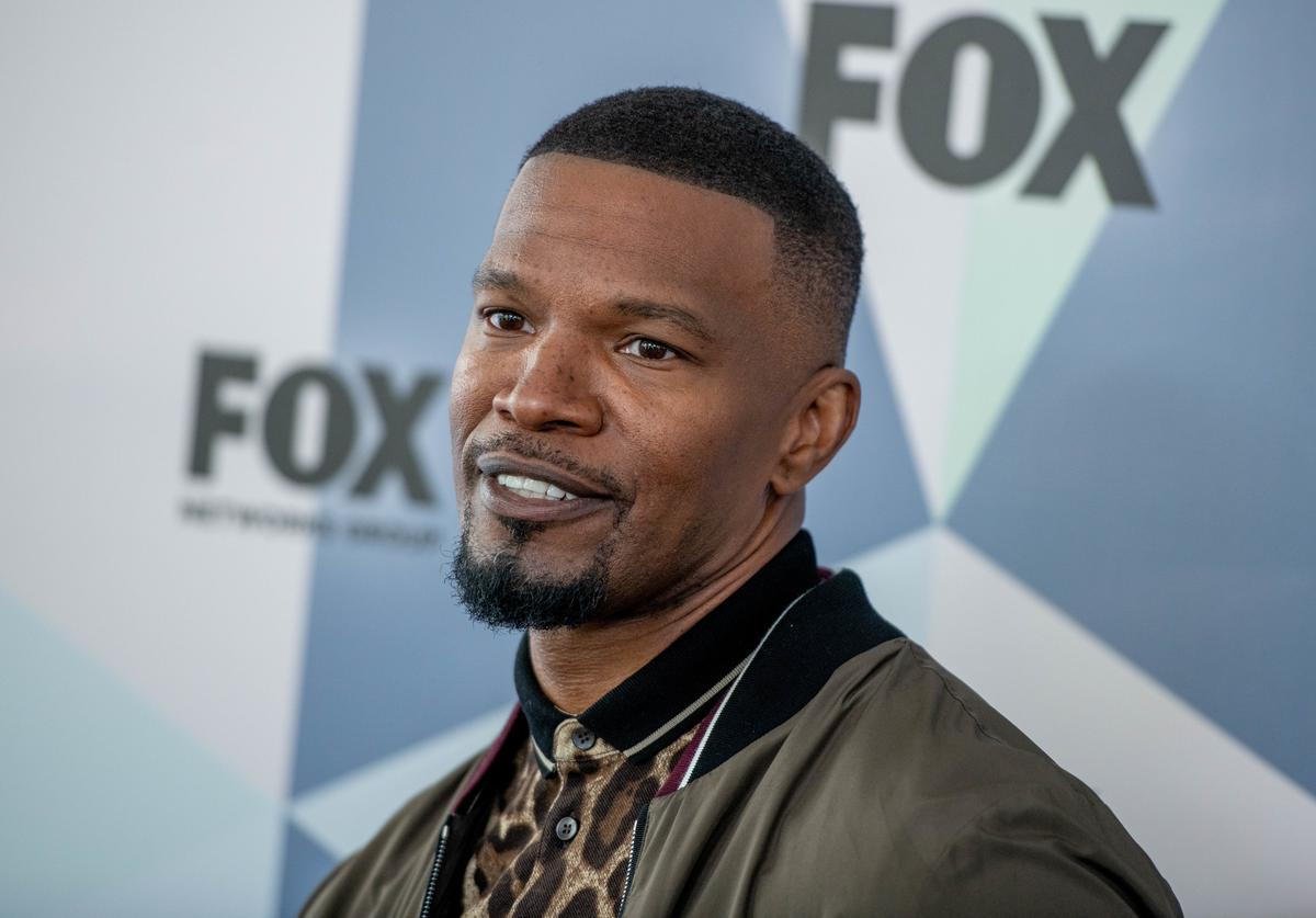 Jamie Foxx attends the 2018 Fox Network Upfront at Wollman Rink, Central Park on May 14, 2018