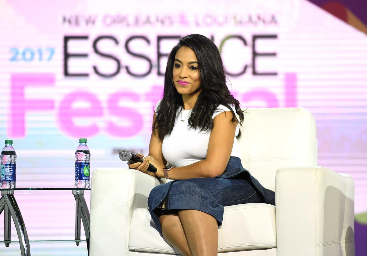 Angela Rye speaks onstage at the 2017 ESSENCE Festival presented by Coca-Cola at Ernest N. Morial Convention Center on June 30, 2017 in New Orleans, Louisiana.