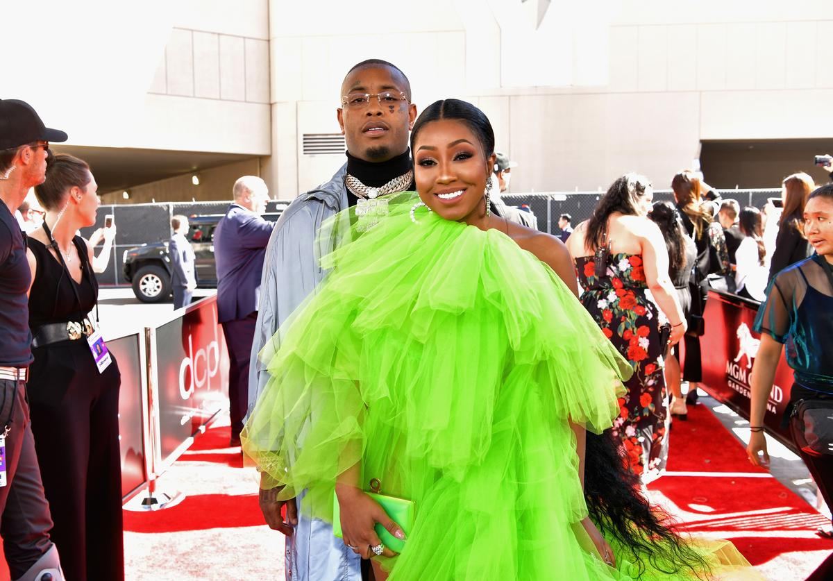 Southside and Yung Miami of City Girls attend the 2019 Billboard Music Awards at MGM Grand Garden Arena on May 1, 2019 in Las Vegas, Nevada.