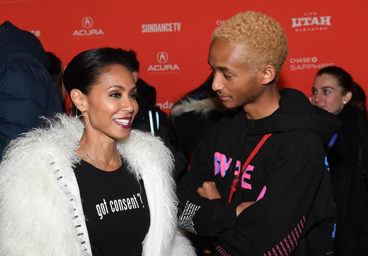 """Jaden Smith and Jada Pinkett Smith attend the """"Skate Kitchen"""" Premiere during 2018 Sundance Film Festival at Park City Library on January 21, 2018 in Park City, Utah"""