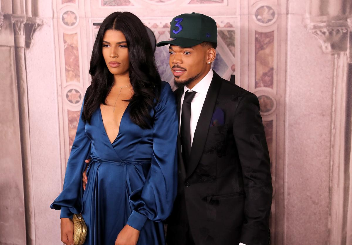 Chance The Rapper and his wife, Kirsten.