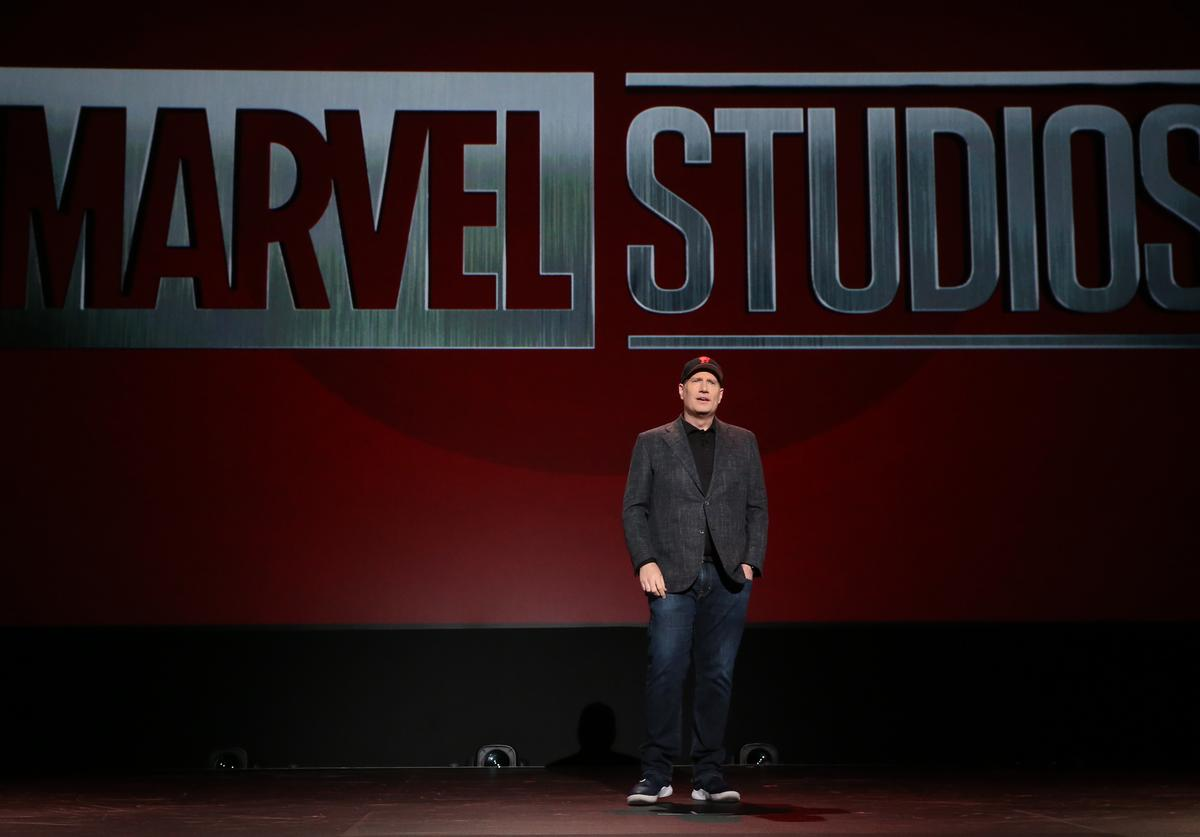President of Marvel Studios Kevin Feige took part today in the Walt Disney Studios presentation at Disney's D23 EXPO 2019 in Anaheim, Calif. (