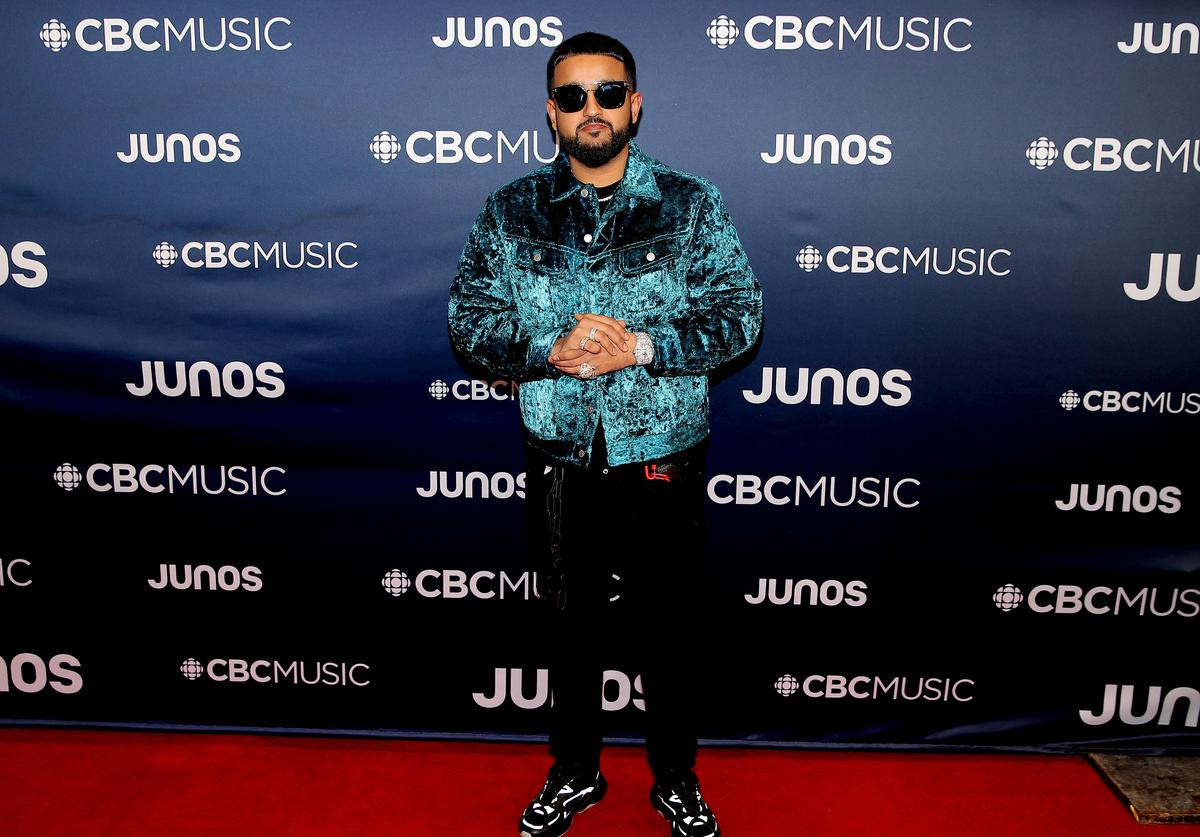 Nav attends the 2019 Juno Awards - Arrivals at Budweiser Gardens on March 17, 2019 in London, Canada