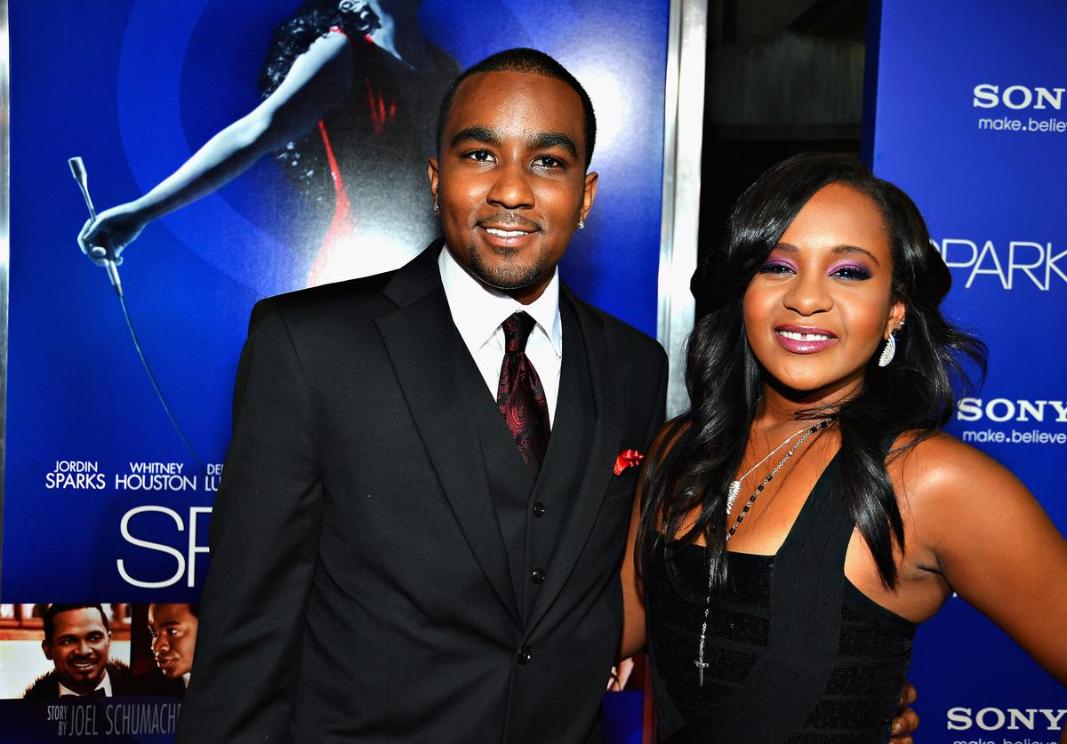 "Bobbi Kristina Brown (R) and Nick Gordon arrive at Tri-Star Pictures' ""Sparkle"" premiere at Grauman's Chinese Theatre on August 16, 2012 in Hollywood, California."