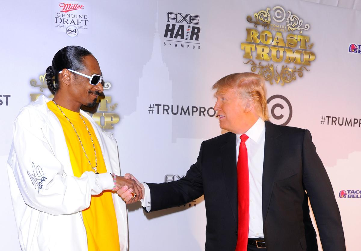 Snoop Dogg & Donald Trump at Comedy Central Roast of Donald Trump