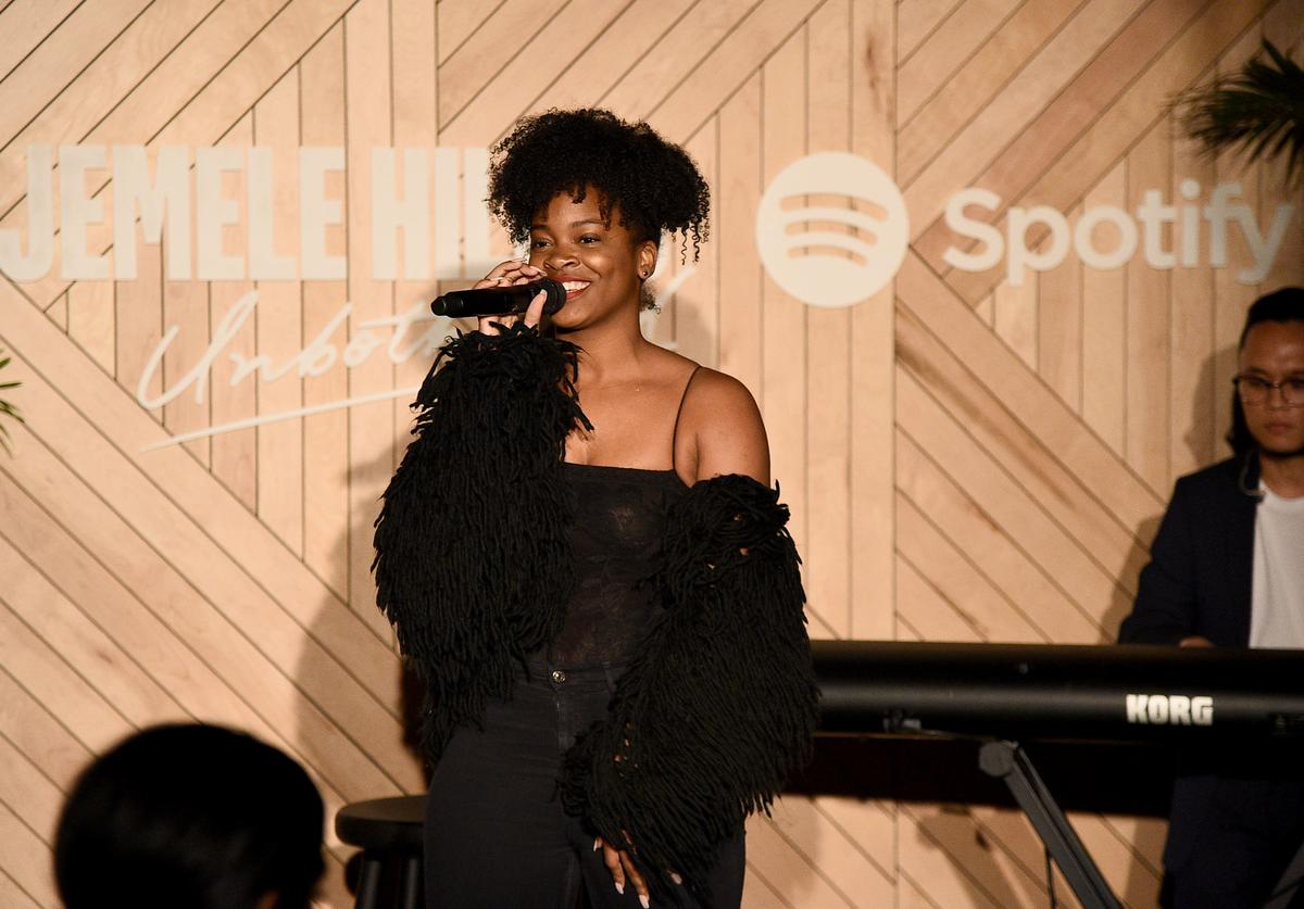 Ari Lennox performs during 'Spotify - Jemele Hill is Unbothered' at Gitano on March 26, 2019 in New York City.