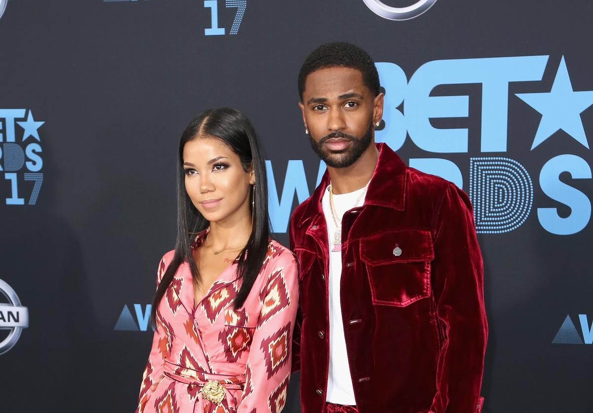 Jhene Aiko and Big Sean at the 2017 BET Awards at Microsoft Square on June 25, 2017 in Los Angeles, California