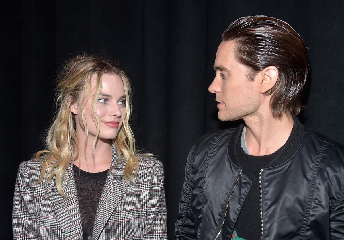 "Margot Robbie & Jared Leto promoting ""Suicide Squad"""
