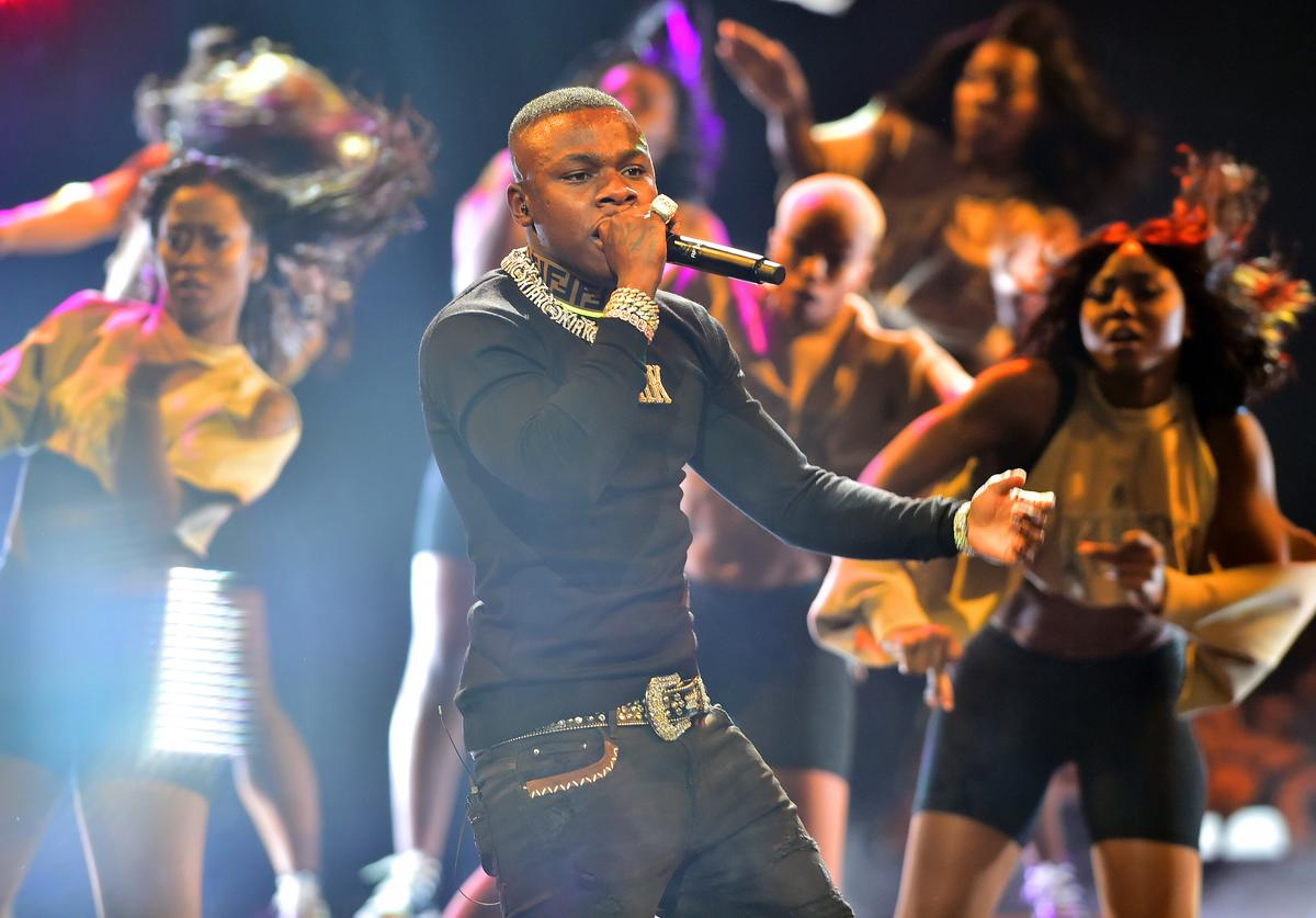 DaBaby performs onstage at the BET Hip Hop Awards 2019 at Cobb Energy Center on October 05, 2019 in Atlanta, Georgia