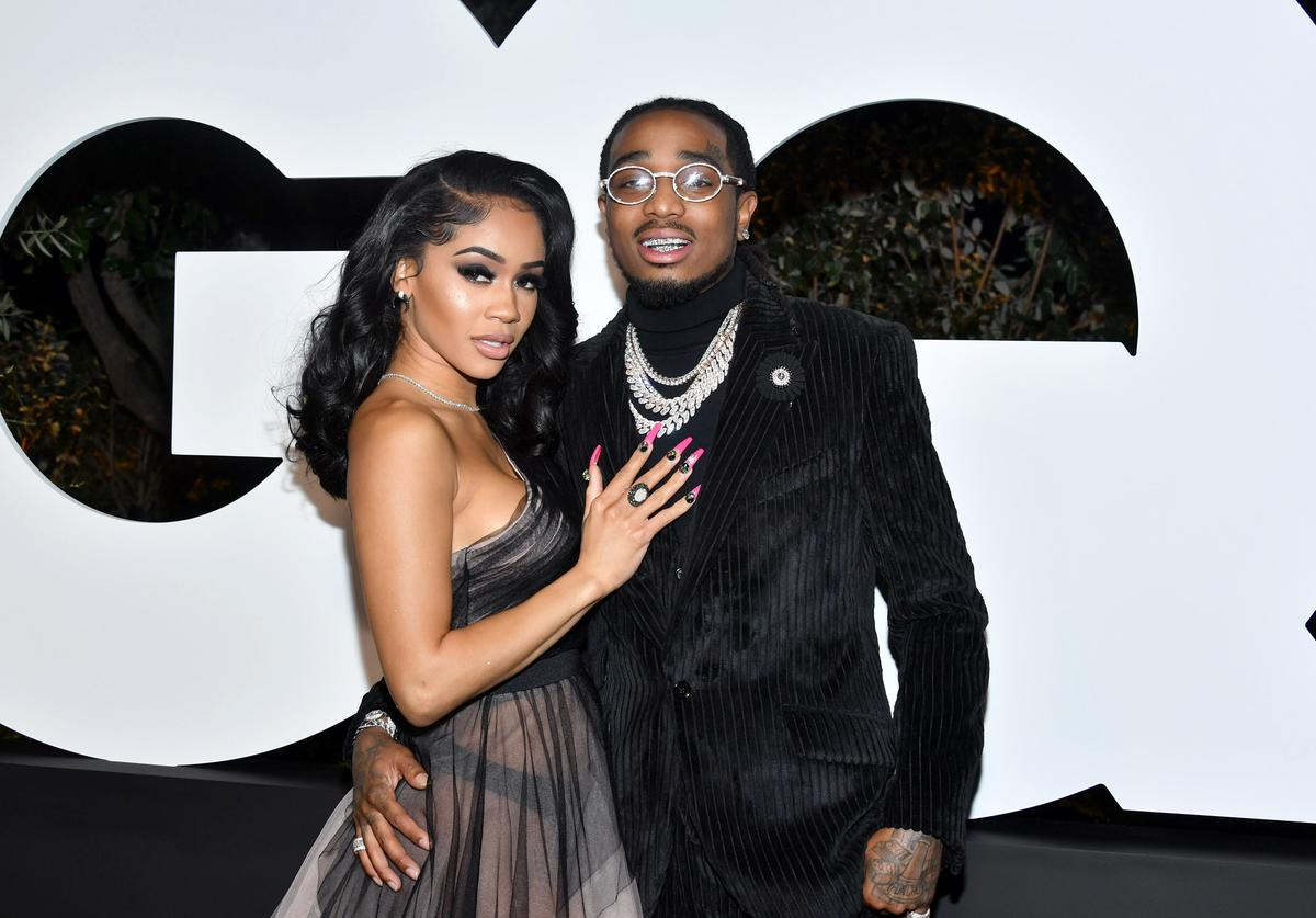 Quavo & Saweetie at the 2019 GQ Men of the Year Awards