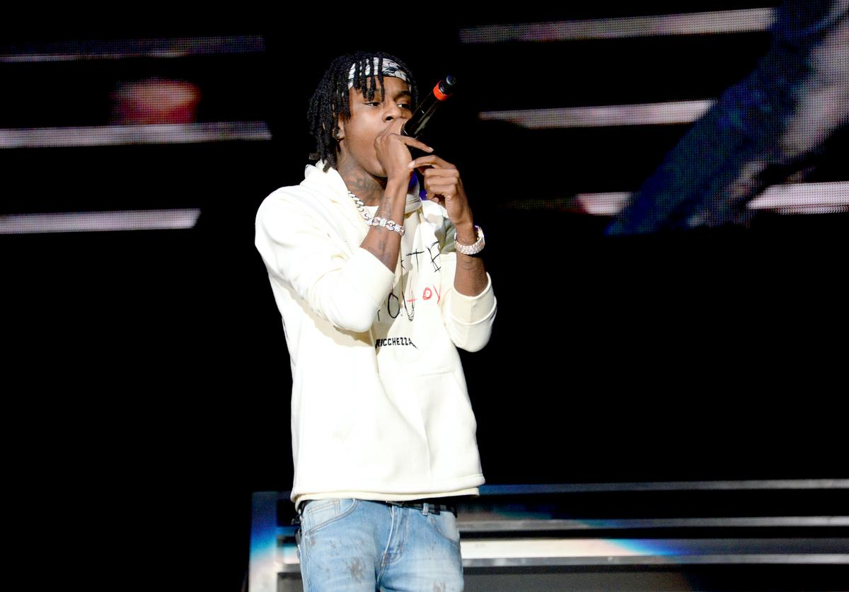 Polo G performs onstage during the Power 105.1's Powerhouse 2019 presented by AT&T at Prudential Center on October 26, 2019 in Newark, New Jersey