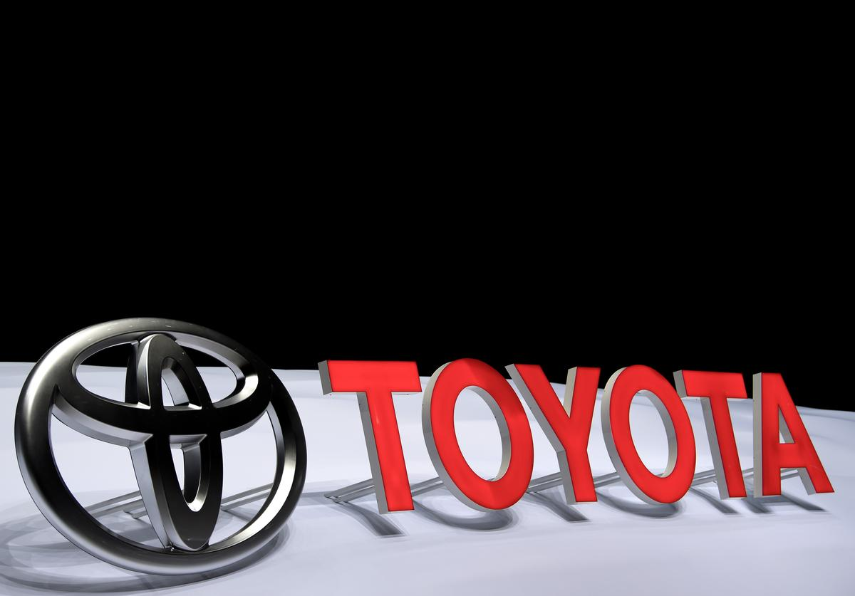 A Toyota logo is seen during the 87th Geneva International Motor Show on March 8, 2017 in Geneva, Switzerland. The International Motor Show showcase novelties of the car industry.