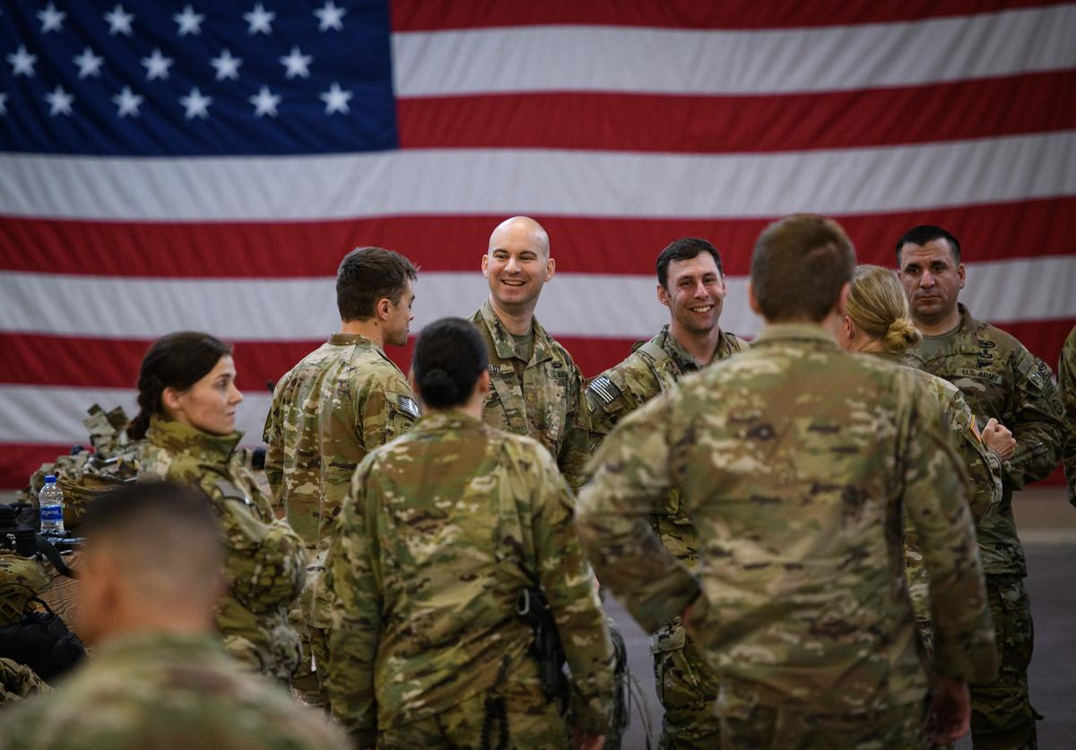 U.S. troops awaiting deployment to Middle East