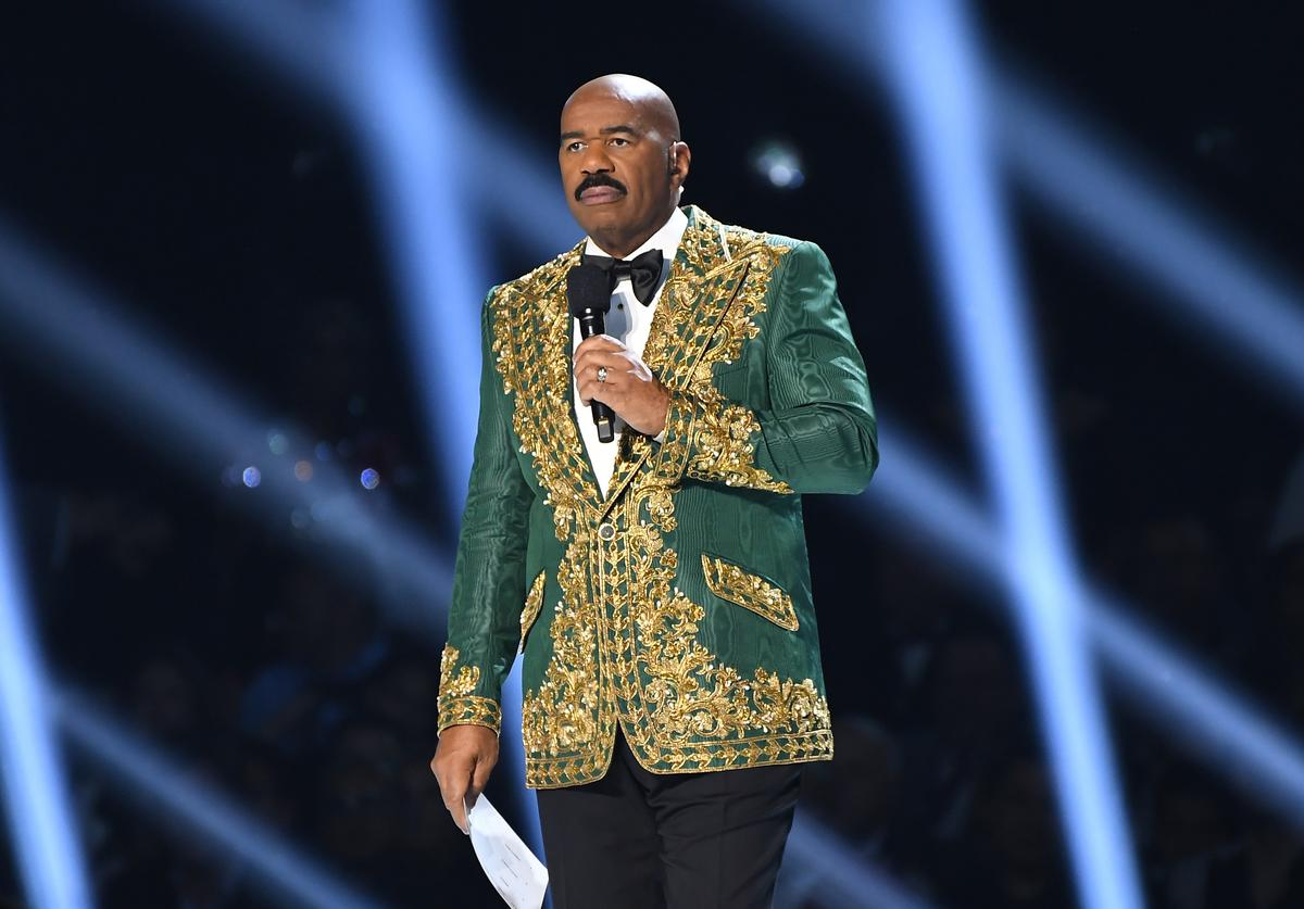 Steve Harvey at the 2019 Miss Universe Pageant