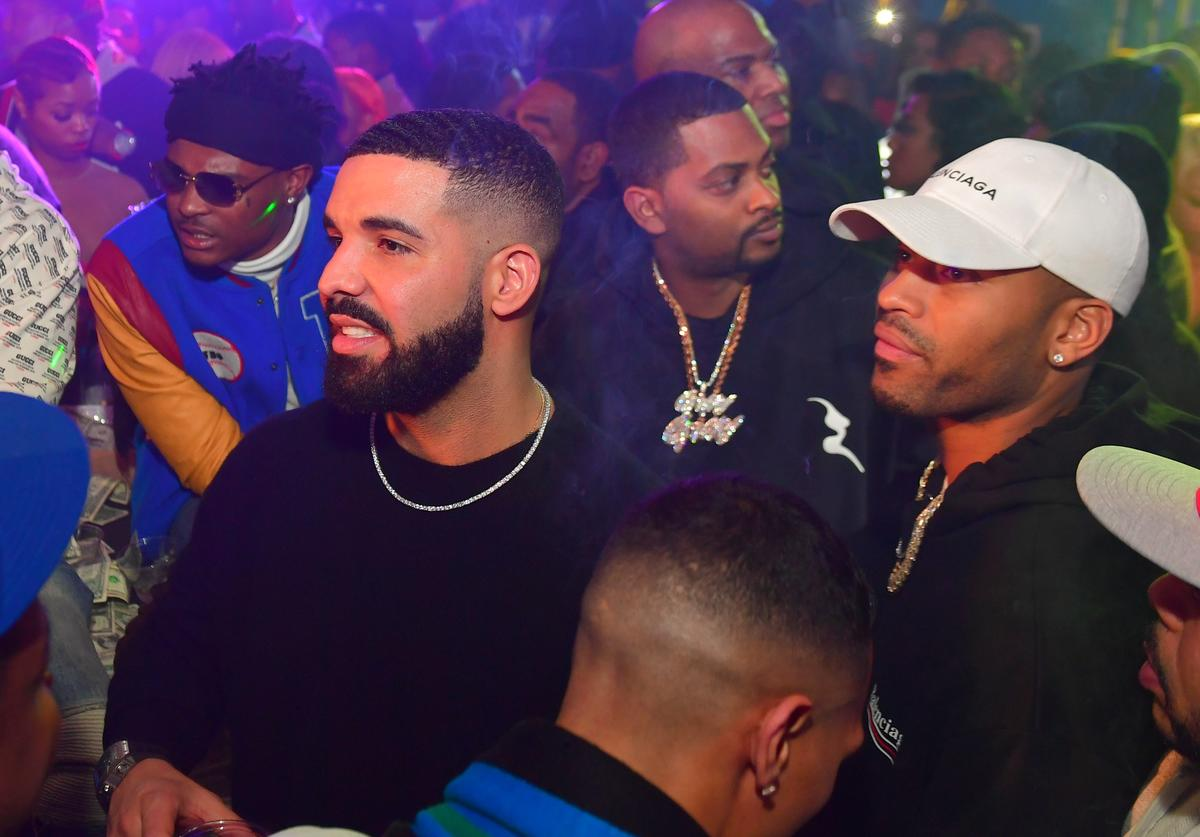 Drake, Chubbs and Preme attend Future's 'Future City' Birthday Party at Magic City on November 20, 2018 in Atlanta, Georgia