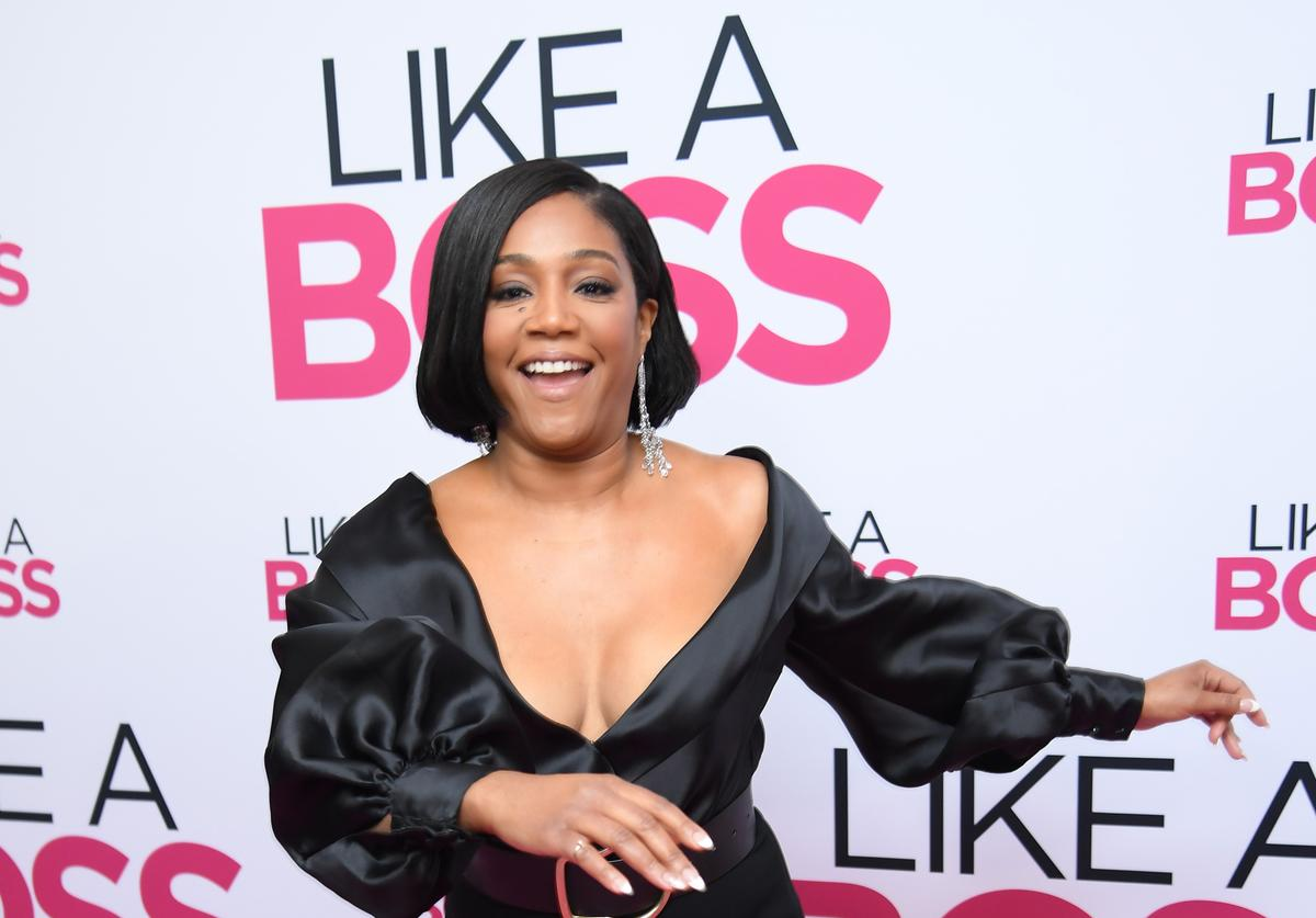 "Tiffany Haddish at the world premiere of ""Like A Boss"" in NYC"