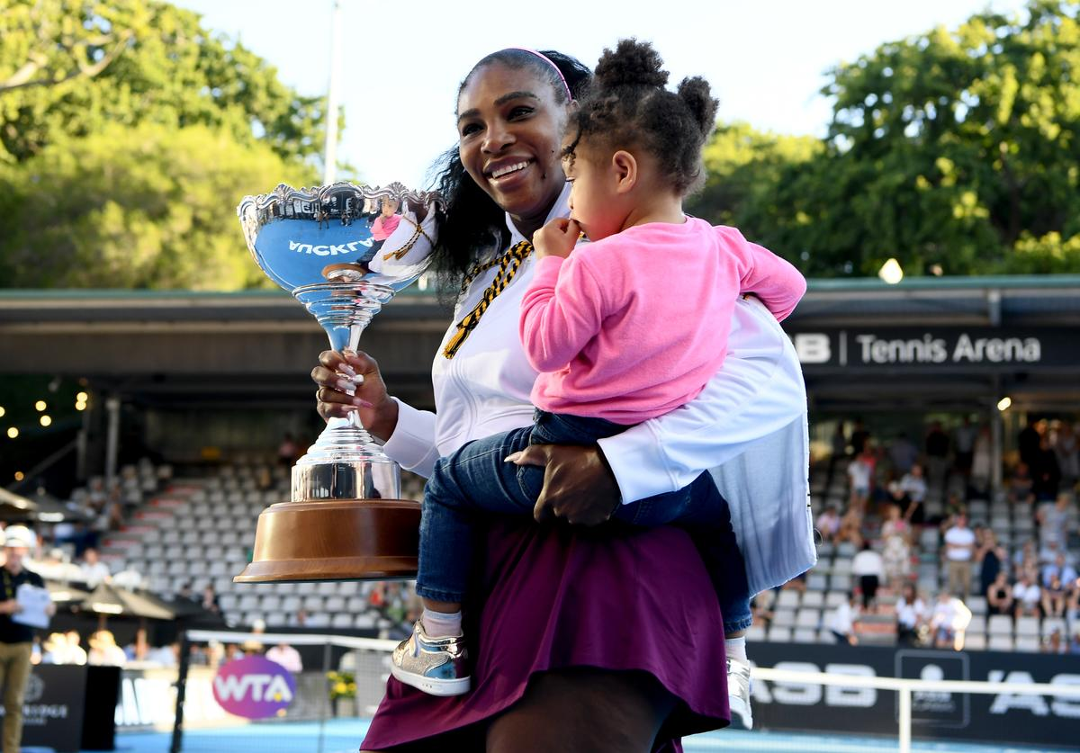 Serena Williams & daughter Alexis Olympia