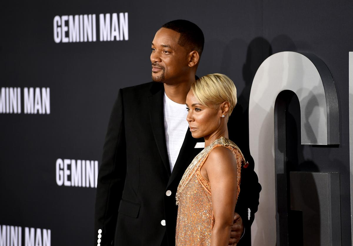 "Jada Pinkett Smith and Will Smith at the ""Gemini Man"" premiere in Hollywood"