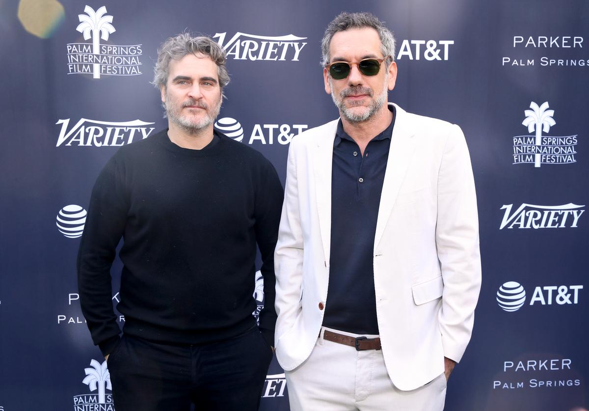 Joaquin Phoenix and Todd Phillips attend Variety's Creative Impact Awards and 10 Directors to Watch Brunch during the 31st Annual Palm Springs International Film Festival on January 03, 2020 in Palm Springs, California.