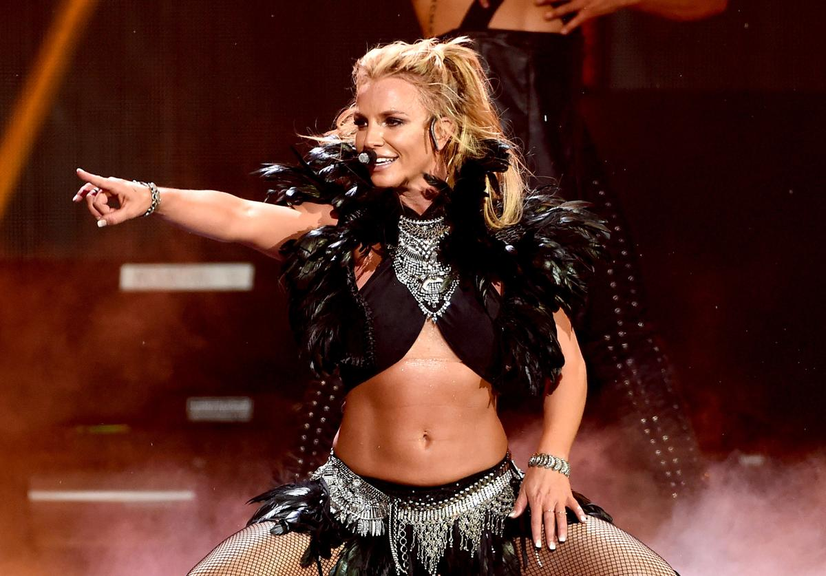 Britney Spears performing at 2016 iHeartRadio Music Festival (Sept. 2016)